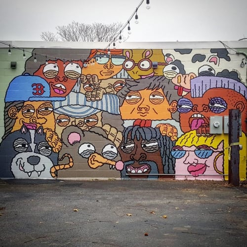 Street Murals by Pete Cosmos seen at Zone 3, Boston - Wall Mural