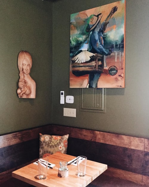 Paintings by Gil Corral Art seen at Bandaloop, Kennebunkport - The Way