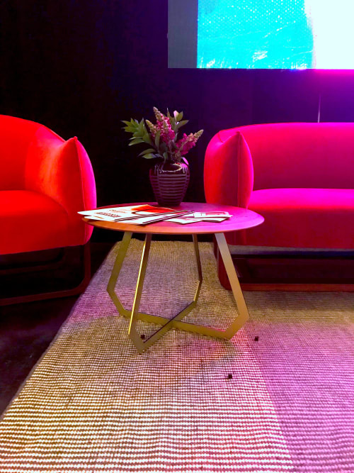 Tables by Marie Burgos Design at Independent Lodging Congress, in the William Vale NYC, Brooklyn - Fetish Table