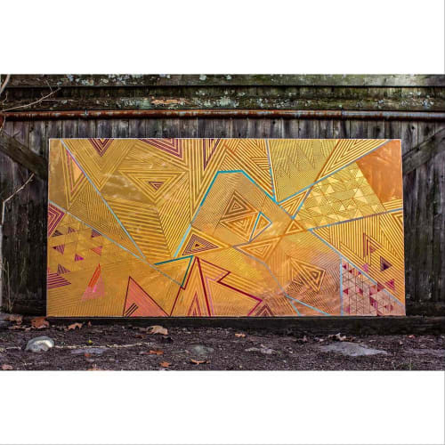 Paintings by Rae Heller seen at Private Residence, Boston - Gold on Gold