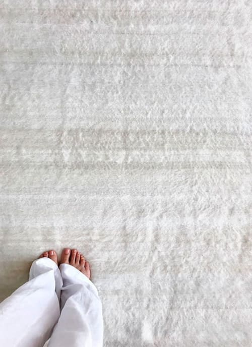 Rugs by AWANAY seen at Private Residence, Buenos Aires Province - LLAMA BLANCA RUG