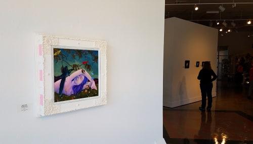 Paintings by Jon Christopher Gernon Fine Art seen at Attleboro Arts Museum, Attleboro - Winter Sleeping Through Summer