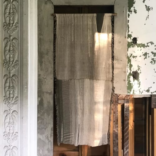 Curtains & Drapes by Hart Textiles seen at Oliver Bronson House, Hudson - Knotweed and Sumac Curtain