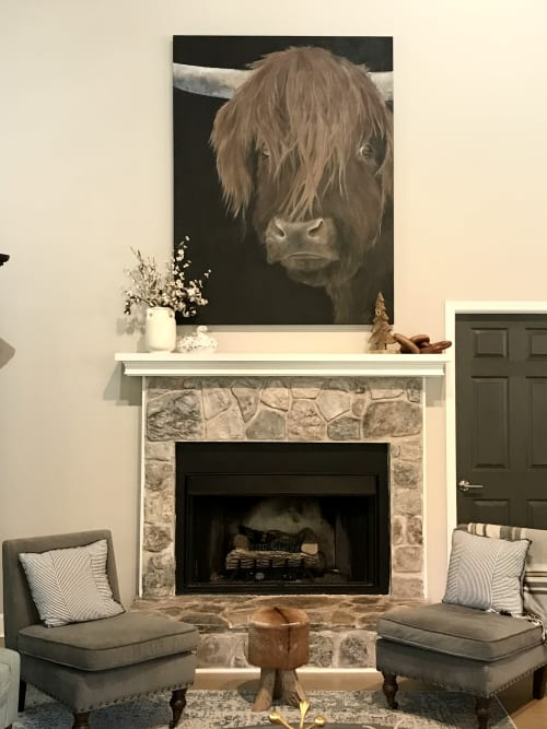 Paintings by Marilyn Landers seen at Private Residence, Dahlonega - Feelin' Bullish