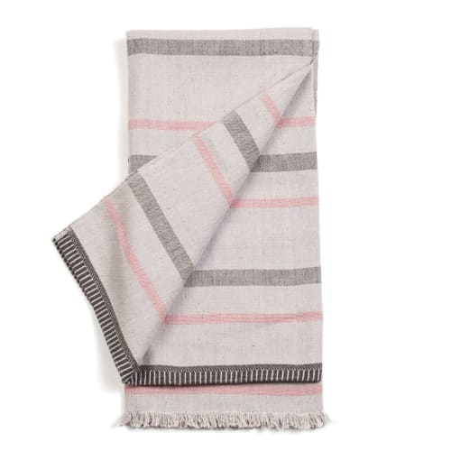 Pewter Organic Cotton Throw | Linens & Bedding by Studio Variously