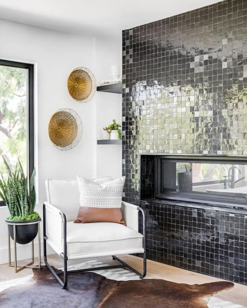 Tiles by clé tile seen at Private Residence, Los Angeles - Zellige Tile