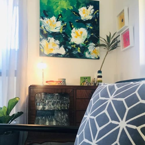 Paintings by Greer Tappert - Artist (Greer can do that) seen at Private Residence, Flinders Park - 'Simplicity'