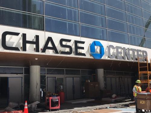Signage by Jones Sign Company seen at San Francisco, San Francisco - Chase Center