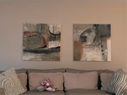 Paintings by Jane Robinson seen at Private Residence, Chicago - Papa Was A Rolling Stone