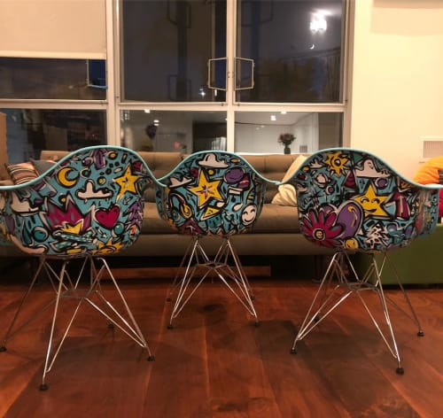 Art & Wall Decor by Elliott C Nathan seen at Private Residence, San Francisco - Painted Chairs