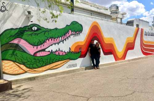Murals by Cory Schnitzer seen at Phoenix, Phoenix - See ya later, alligator