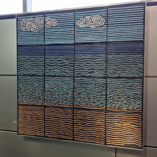 Public Mosaics by Jason Messinger Art seen at Illinois Medical District, Chicago - Beach