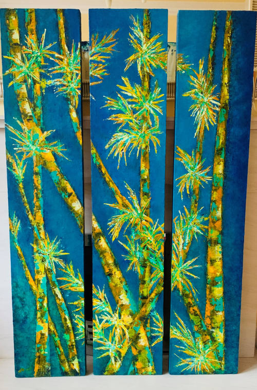 Paintings by Alicent Art seen at Private Residence, London, London - Bamboos