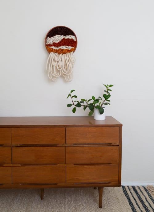 Wall Hangings by Keyaiira | leather + fiber seen at Private Residence, Santa Rosa - Hybernate - Terracotta & Fiber Wall Sculpture