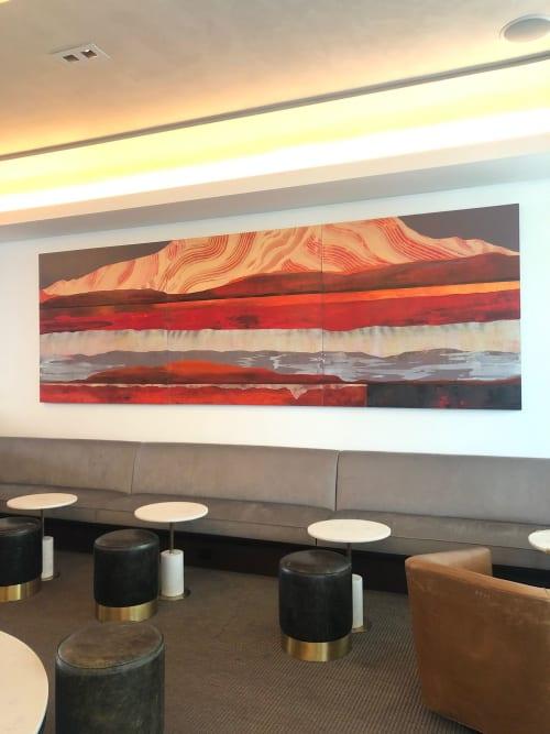 Paintings by Sarah Winkler Art Studio seen at Mountain Shadows Resort Scottsdale, Scottsdale - Desert Peak