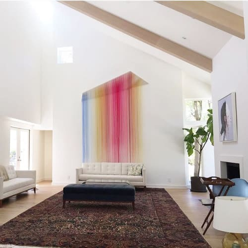 Wall Hangings by Nike Schroeder Studio seen at Private Residence, Hillsborough - Commissioned Fiber Art