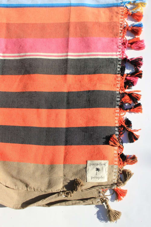 Linens & Bedding by Paradise People seen at Hollywood Beach - Indian Summer Stripe Blanket