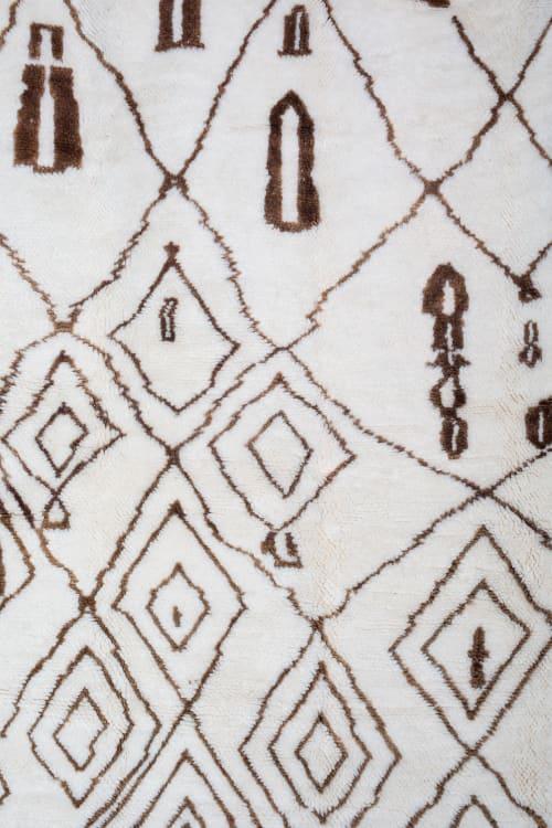 Rugs by Kechmara Designs seen at Creator's Studio, Sacramento - Contemporary Beni Ourain Moroccan Rug