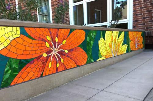 Public Mosaics by Rachel Rodi seen at The Addison at Central Park, San Mateo - Bloom