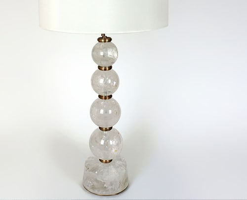 Lamps by Ron Dier Design seen at Kips Bay Palm Beach Showhouse, West Palm Beach - Regis Rock Crystal Lamp