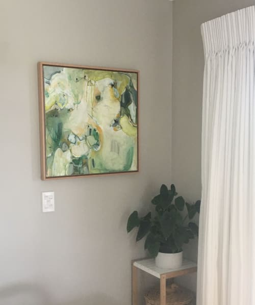 Paintings by Nicola Bennett seen at Private Residence, Rotorua - Leave To Soften