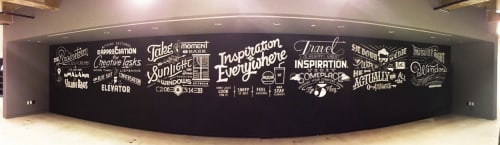Murals by Friends of Type seen at BBDO Worldwide Inc, New York - Assemblage