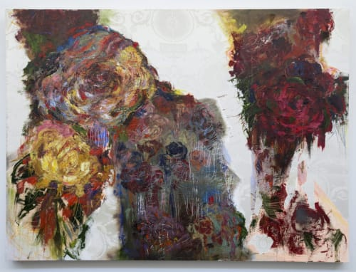 Paintings by Katherine Boxall seen at Sorrel, San Francisco - Roses V
