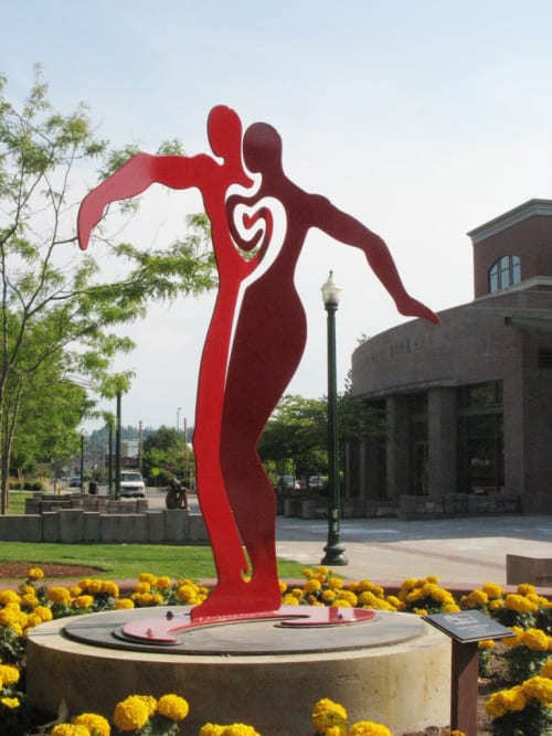 Public Sculptures by Alisa Looney seen at Puyallup, Puyallup - HEART CONNECTION