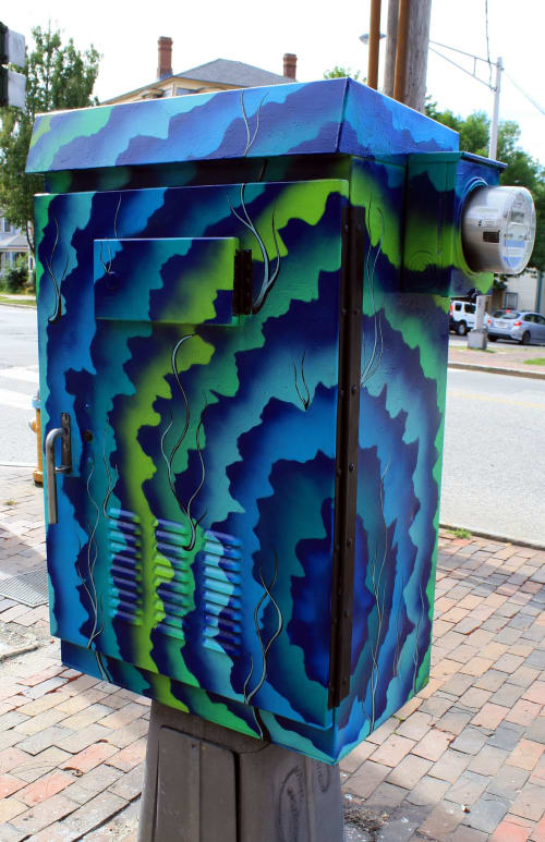 Street Murals by Jared Goulette | The Color Wizard seen at Portland, Portland - Portland Maine Utility Box exterior Murals