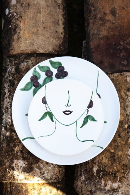 Ceramic Plates by Patrizia Italiano seen at Creator's Studio - Oliva plate only decor