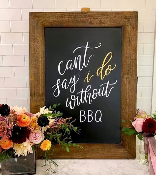 Art & Wall Decor by Jamie Lindley Lettering seen at The Meekermark, Magnolia - Custom Chalkboard
