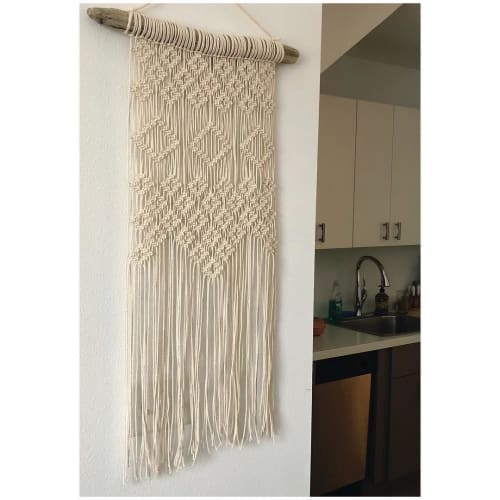Macrame Wall Hanging by Oak & Vine seen at Private Residence, Lakeland - Diamond Design Macrame