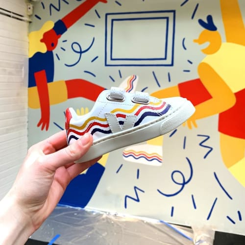 Murals by Cecile Gariepy seen at Smallable Concept Store, Paris - Smallable Mural