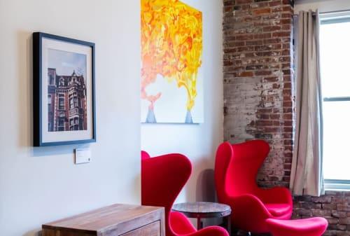 "Paintings by Erik Weedeman seen at O3 World, LLC, Philadelphia - ""19th & Walnut"""