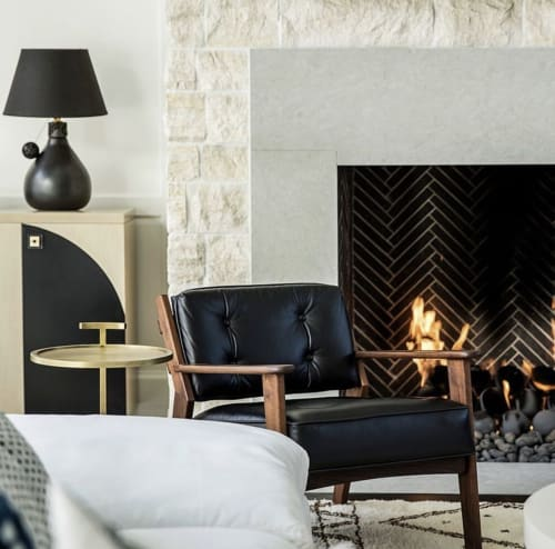 Lamps by l'aviva home seen at Private Residence, Los Angeles - Barro Negro Lamp