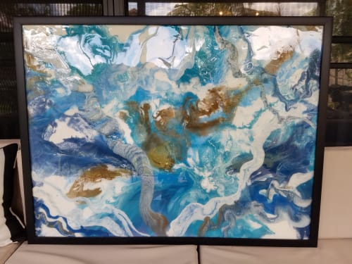 Paintings by Molly Silverman Art seen at Delray Beach, FL, Delray Beach - Fluid Imagination