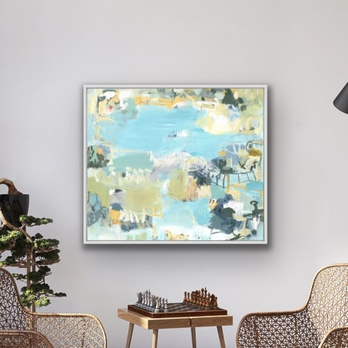 Paintings by Gitte Backhausen Art seen at Private Residence, Gerringong - Playing Field (painting)