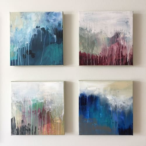 Paintings by Andrea Bijou seen at Private Residence, Kirkland - Land and Sea Set of 4