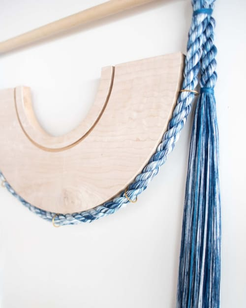 Macrame Wall Hanging by Cindy Hsu Zell seen at Private Residence, New York - Pulley (Indigo)