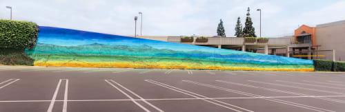 Street Murals by Chris Trueman seen at Montclair Place, Montclair - San Gabriel Mountain mural