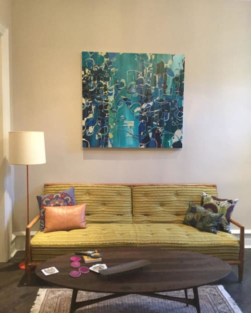 Paintings by Rebecca Moy seen at Private Residence, Chicago - Aquatic