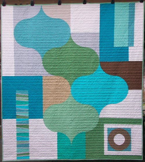 Linens & Bedding by Ramekin Quilts seen at Private Residence - United States - Eucalyptus Quilt