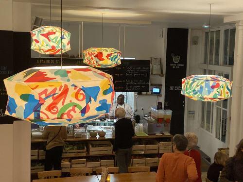 Lighting Design by Atelier-Morse seen at Le Bichat, Paris - Pendants lightnings installation at Le Bichat