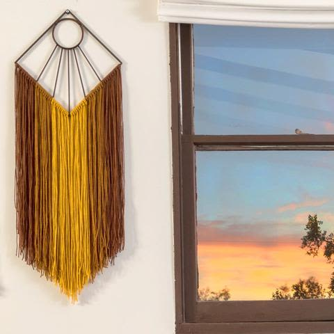 Wall Hangings by Boonies Design + Fabrication seen at Private Residence, Lafayette - Sunbeam Wall Hanging, Golden Girl