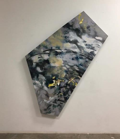Paintings by Lisa Rachel Horlander seen at WorkHub, Tyler - Suspension