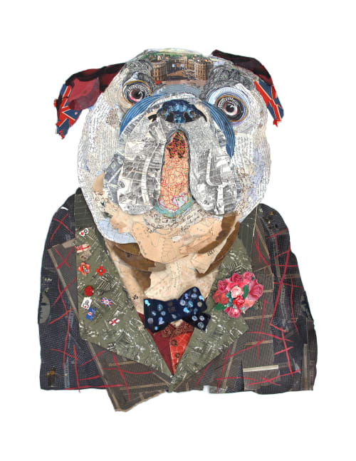Art & Wall Decor by Peter Clark Collage at The Langham, London, London - 'Almost Conventionally Handsome' at The Langham