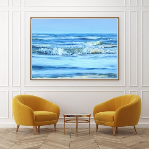 "Paintings by Fran Halpin Art seen at Creator's Studio, Dublin - ""A moment of calm"" Print"