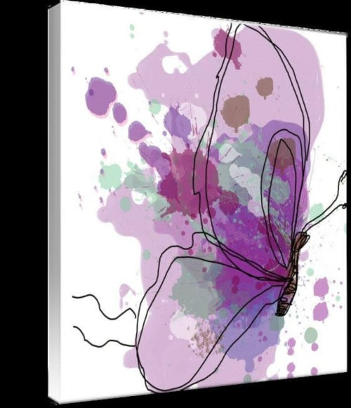 Purple Butterfly Canvas   Paintings by Irena Orlov