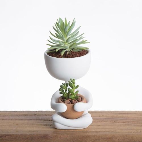 Vases & Vessels by Estudio Floga seen at Private Residence, Mexico City - Robert Zen Plant Pot - White