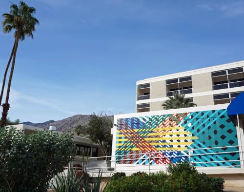 Street Murals by Ryan Campbell seen at Palm Springs - Desert Regional Medical Center, Palm Springs - Desert Regional and Covered California.